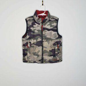 L.L. Bean Camo Vest Puffer Down Full Zip Vest Kids